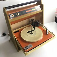 Vintage Sears Silvertone Portable Record Player Fold out model 7262 PARTS/REPAIR