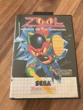 Master System:   ZOOL       en boite    PAL EUR