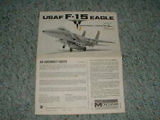 Monogram 1/72 Usaf F-15 Eagle Instructions