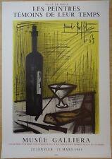 """Bernard BUFFET : """"Le pain et la vie"""" LITHOGRAPHIE SIGNEE MOURLOT 53x77cm 1964"""