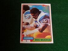 doug wilkerson (san diego chargers-guard) 1981 topps CARD #447 nr/MINT condition