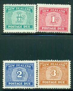 NEW ZEALAND J22-25 SG#D41-44 MH 1939 Postage Due set of 4 Wmk 61 Cat$53