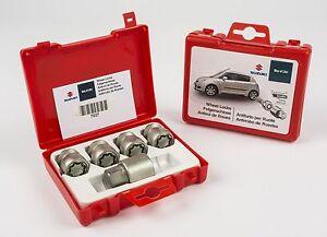 Genuine Suzuki Grand Vitara 3 dr Locking Wheel Bolts Nuts Set x4 990E0-59J47-000