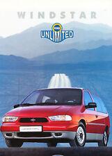 1997 Ford Windstar Van German Prospekt Sales Brochure