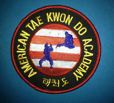 Vintage American Tae Kwon Do Academy Martial Arts Mma Gi Patch Crest