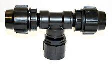 """IBC Adaptador (2 """" - s60-60mm) a 2x 40mm compresión accesorios de tubería MdPE Agua"""