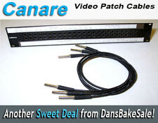 Canare Lot of 3 Video Patchbay Cable - Canare 406 LV-61S Cable