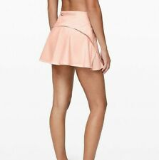 LULULEMON NWT PLAY OFF THE PLEATS SKIRT SZ 14 BUTTER PINK TENNIS GOLF BEACH RUN