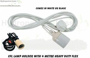 CFL Lamp Holder Grow Light Bulb Pendant with E40 Fitting Cord Hydroponics E40