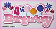 Craftecafe Birthday Title paper piecing premade scrapbook page die cut Wolffey5
