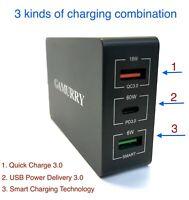 USB PD 3-Port 84W USB C Fast Charge Hub For Macbook Pro iPad 11 Pro Switch &More