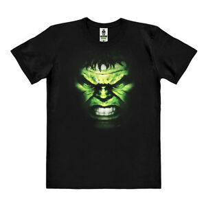 LOGOSHIRT - Marvel Comics: Incredible Hulk - Gesicht - Organic Bio T-Shirt Print