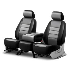 For Chevy Silverado 1500 14-19 Seat Covers LeatherLite Series 1st Row Black &