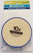 Conair Suction Cup Mirror 10x Magnification, No. 41649, Royal Blue - NEW