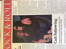 a1n ephemera 1989 article folded cult sonic temple ian astbury billy duffy