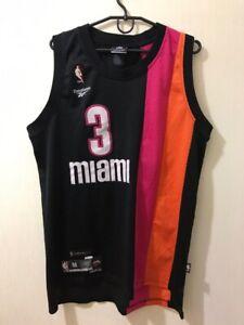 Rare Vintage #3 Wade Miami Heat Reebok NBA Shirt jersey hardwood classics HWC