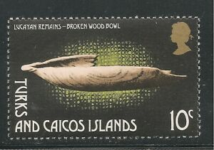Turks & Caicos Islands #289 (A51) VF MNH - 1974 10c Broken Wooden Bowl Artifacts