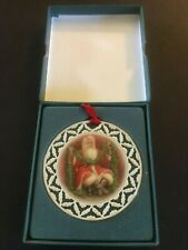 Lenox Portrait Collection Ornament ~ Santa with Garland 1990 ~ Porcelain Pierced