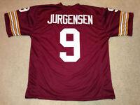 UNSIGNED CUSTOM Sewn Stitched Sonny Jurgensen Burgundy Jersey - M, L, XL, 2XL