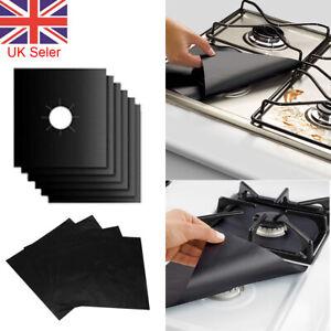 8x Hob Stove Top Cooker Cover Reusable Protector Range Liner Non Stick Gas Mat
