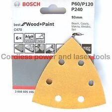 Bosch Delta Sanding Sheets WOOD PAINT PMF180E PMF190 250 GOP10.8V GOP 250 GOP300