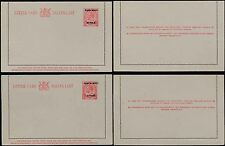 South West Africa 1923 Kg5 Stationery Lettercards English + Afrikaans Opts