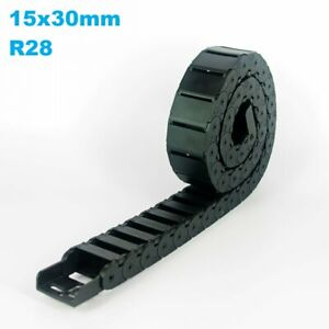 15x30mm R28 Nylon Energy Drag Chain Cable Wire Carrier CNC Router 3D Printer Mil