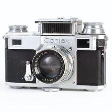 :Zeiss Ikon Contax III 35mm Film Camera w/ Sonnar 5cm 50mm f2 Red T Lens (Read)