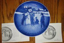 New Listing2003 B&G Bing & Grondahl Christmas Plate Frosty the Snowman Nib Mint