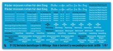 PEDDINGHAUS 1/87 1252 diversi reichsbahnbeschriftung militärzüge