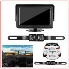 "Backup Camera and Monitor Kit for Car/Vehicle/Truck Waterproof Night Vision 4.3"""