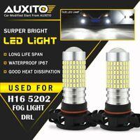 2X AUXITO H16 5202 Fog Light Daytime Running Light White 6000K For Chevrolet GMC