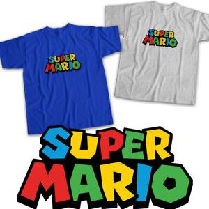 Mario Luigi Classic Video Fun Cute Game Title Unisex Tee T-Shirt