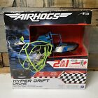 AIRHOGS 2 in 1 Hyper Drift Drone for Speed Racing and Flying Blue +RC Controller