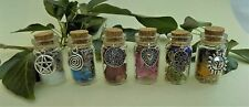 Witch Bottle Spell Talisman for Wealth, Love Luck and More, Herbs Wicca