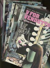 V for Vendetta 1,2,3,4,5,6,7,8,9,10 (of 10) (1988) ^10 Book Lot^ DC Comics,Moore