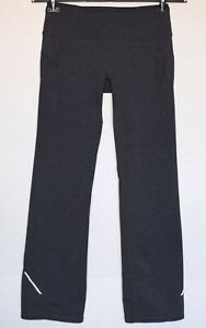 Athleta Gray Elastic Waist Straight Leg Athletic Pants Size S
