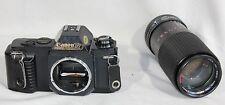 Canon T50 Film Camera 35mm SLR Albinar 80-200mm Macro Zoom Lens Japan Vintage