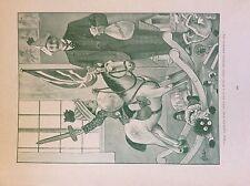 m17a3 ephemera 1920s book plate boy on rocking horse the battle's won