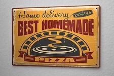 Tin Sign Nostalgic Fun Pizza