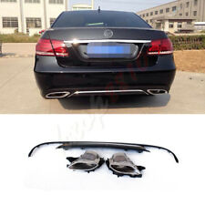 Exhaust Tail Pipes&Rear Bumper Fit For Mercedes-Benz E-class W212 Refit 14-15