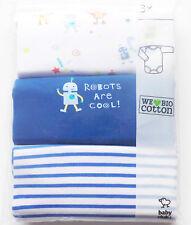 3x LA Body Gr.56 Baby Club NEU blau weiß Roboter Set
