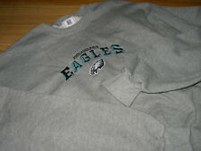"""PHILADELPHIA EAGLES SS LONG SLEEVE PLAYERS FAN SWEAT """"Embroidered"""" SHIRT (M)"""