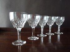 More details for 5 stuart crystal cardinal cut wine glasses, signed, h12,2cm