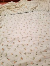 SHABBY CHIC DOUBLE FLORAL FRILLED BEDSPREAD