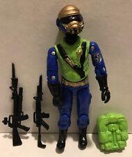 Black Major Cobra GI Joe CUSTOM Steel Brigade Figure gold Head(B)