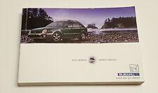 2003 SUBARU IMPREZA OWNERS MANUAL V5 2.5L V4 2.4L SEDAN WAGON WRX RS OUTBACK SPO