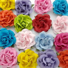 25 Mulberry Paper Flowers Wedding Rose Headpiece Scrapbook Craft Supply R77-427