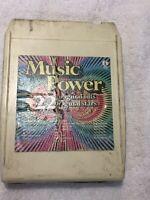 Music Power 22 Original Hits 22 Original Stars 8 track tape UNTESTED