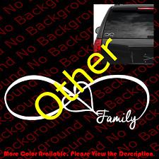 FAMILY LOVE HEART INFINITY FOREVER SYMBOL VINYL DECAL CAR WINDOW STICKER FM001